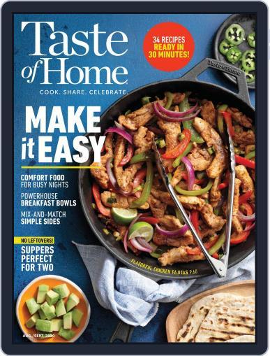 Taste Of Home Digital Magazine August 1st, 2020 Issue Cover