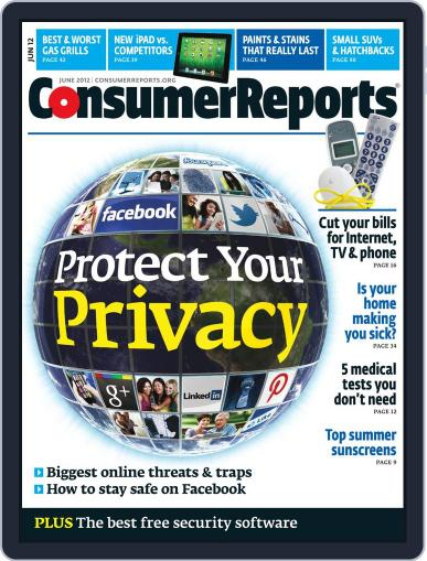 Consumer Reports Magazine (Digital) May 8th, 2012 Issue Cover