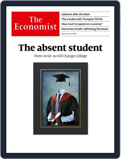 The Economist Magazine (Digital) August 8th, 2020 Issue Cover