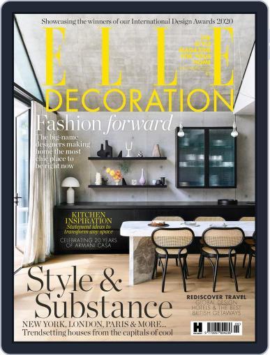 Elle Decoration UK Magazine (Digital) September 1st, 2020 Issue Cover
