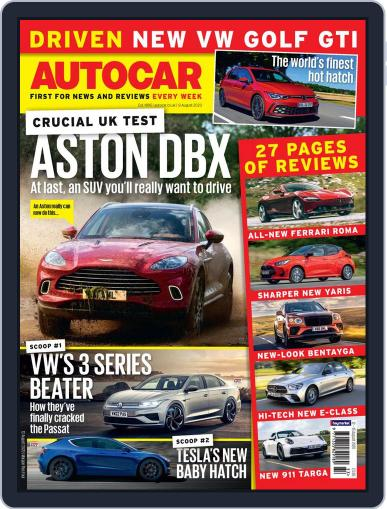 Autocar Magazine (Digital) August 12th, 2020 Issue Cover