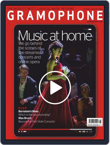 Gramophone Magazine (Digital) August 1st, 2020 Issue Cover