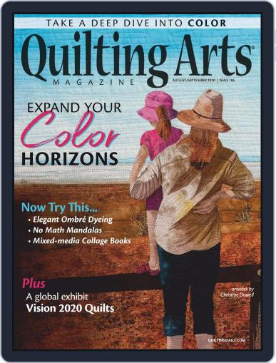 Quilting Arts Magazine (Digital) August 1st, 2020 Issue Cover