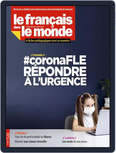 Le Français Dans Le Monde Magazine (Digital) July 1st, 2020 Issue Cover