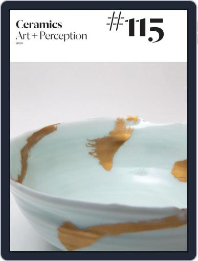 Ceramics: Art and Perception Magazine (Digital) March 31st, 2020 Issue Cover