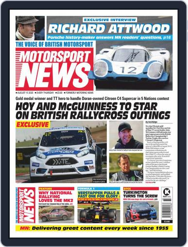 Motorsport News Magazine (Digital) August 13th, 2020 Issue Cover