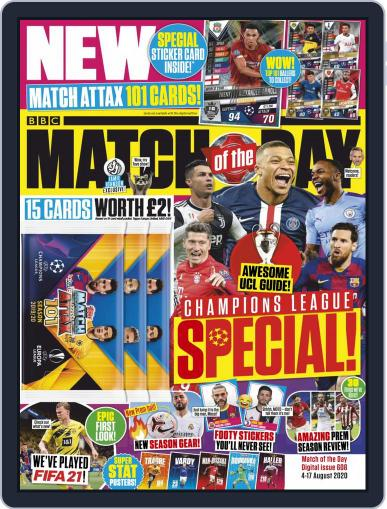 Match Of The Day Magazine (Digital) August 4th, 2020 Issue Cover