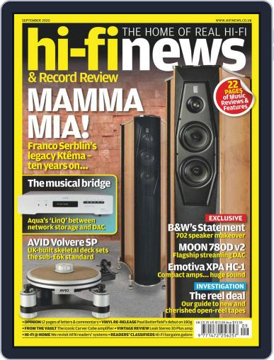 Hi Fi News Magazine (Digital) September 1st, 2020 Issue Cover
