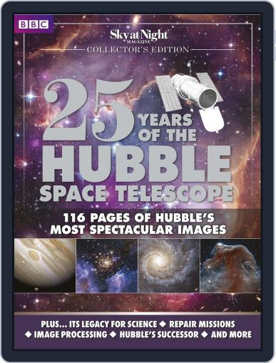 25 Years of the Hubble Space Telescope - from BBC Sky at Night Magazine (Digital) April 16th, 2015 Issue Cover