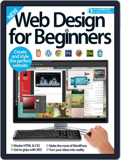 Web Design For Beginners Magazine (Digital) October 17th, 2016 Issue Cover
