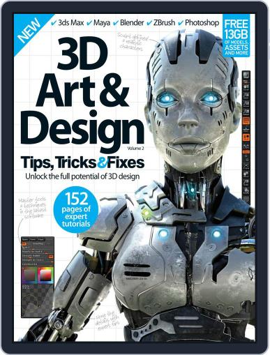 3D Art & Design Tips, Tricks & Fixes Magazine (Digital) January 1st, 2016 Issue Cover