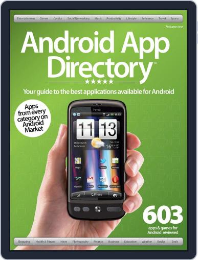 Android App Directory Vol 1 Magazine (Digital) May 22nd, 2012 Issue Cover