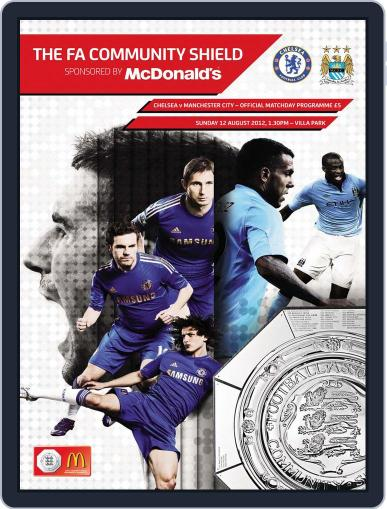 Community Shield Manchester City v Chelsea Magazine (Digital) August 12th, 2012 Issue Cover
