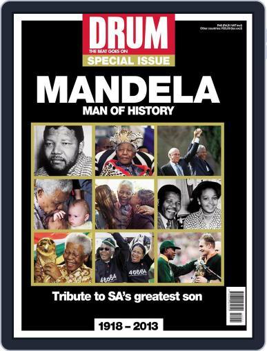 Drum - Nelson Mandela  – Man of History Magazine (Digital) December 11th, 2013 Issue Cover