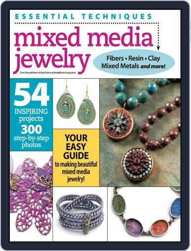Essential Techniques: Mixed Media Jewelry Magazine (Digital) August 7th, 2015 Issue Cover