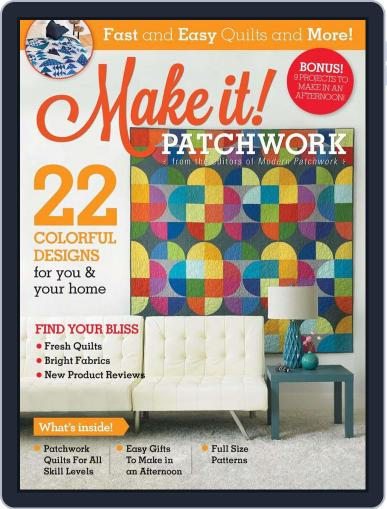 MAKE IT! PATCHWORK Magazine (Digital) January 1st, 2017 Issue Cover