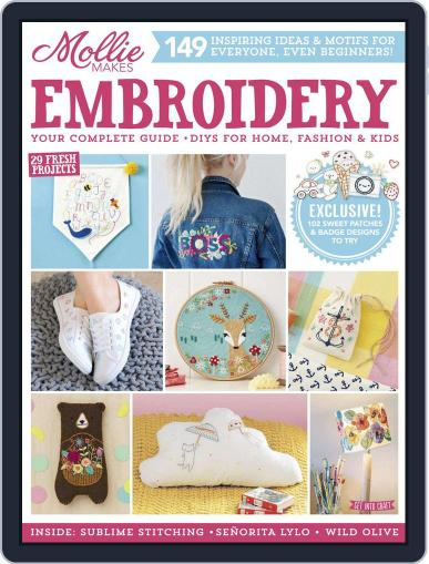 Mollie Makes Embroidery Magazine (Digital) April 28th, 2017 Issue Cover