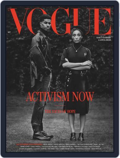 British Vogue Magazine (Digital) September 1st, 2020 Issue Cover