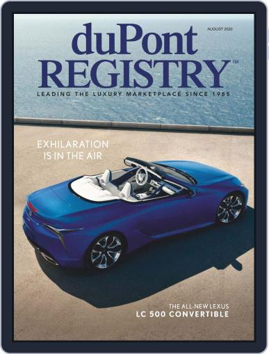 duPont REGISTRY Magazine (Digital) August 1st, 2020 Issue Cover