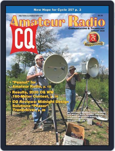 CQ Amateur Radio Magazine (Digital) August 1st, 2020 Issue Cover