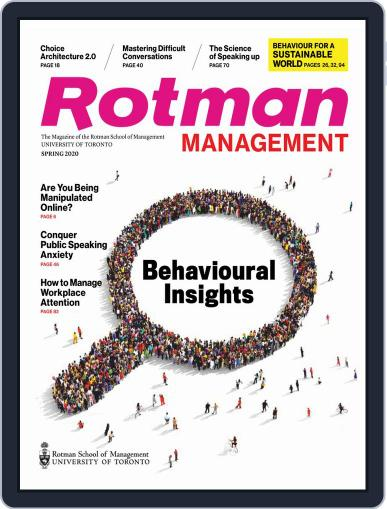 Rotman Management Magazine (Digital) April 16th, 2020 Issue Cover