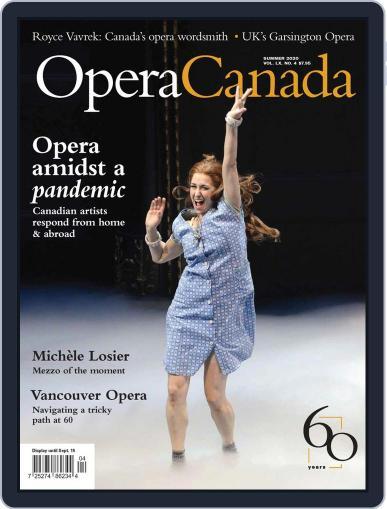 Opera Canada Magazine (Digital) June 5th, 2020 Issue Cover