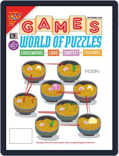 Games World of Puzzles Magazine (Digital) September 1st, 2020 Issue Cover