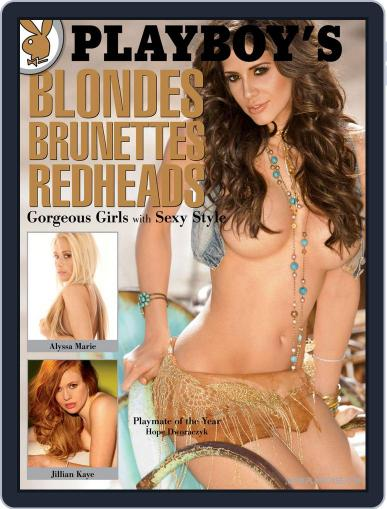 Playboy's Blondes, Brunettes, And Redheads (Digital) January 1st, 2011 Issue Cover