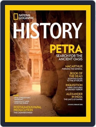 National Geographic History Magazine (Digital) February 17th, 2016 Issue Cover