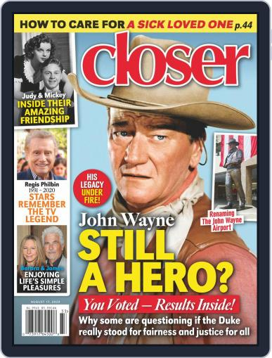 Closer Weekly Magazine (Digital) August 17th, 2020 Issue Cover
