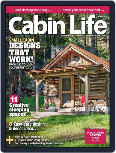 Cabin Life (Digital) August 1st, 2015 Issue Cover