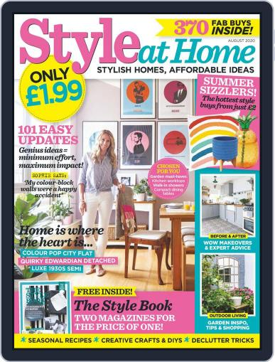 Style At Home Canada Magazine (Digital) August 1st, 2020 Issue Cover