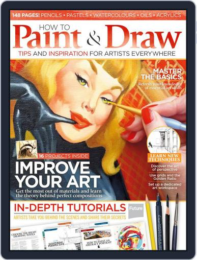 How to Paint and Draw Magazine (Digital) August 1st, 2015 Issue Cover