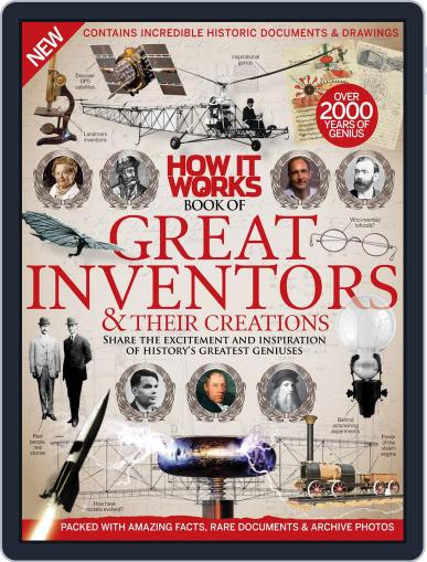 How It Works Book of Great Inventors & Their Creations Magazine (Digital) April 1st, 2016 Issue Cover