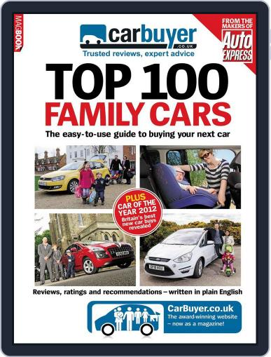 CarBuyer Top 100 Family Cars Magazine (Digital) April 13th, 2012 Issue Cover