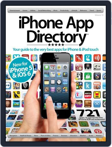 iPhone App Directory Vol 10 Magazine (Digital) October 1st, 2012 Issue Cover