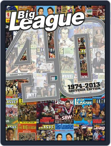 Big League magazine - 40 years special Magazine (Digital) August 26th, 2013 Issue Cover