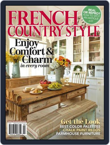French Country Style Magazine (Digital) July 24th, 2017 Issue Cover