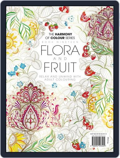 Colouring Book: Flora and Fruit Magazine (Digital) June 1st, 2017 Issue Cover