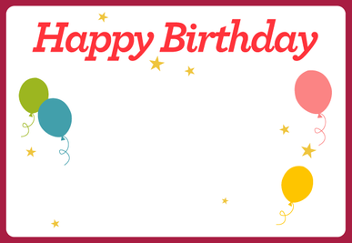 Birthday E-Card (Digital) Cover