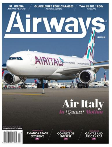 Airways Magazine July 1st, 2018 Issue Cover