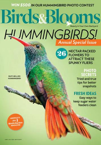 Birds & Blooms Magazine June 1st, 2020 Issue Cover