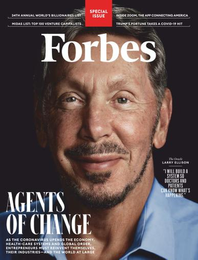Forbes Magazine May 1st, 2020 Issue Cover