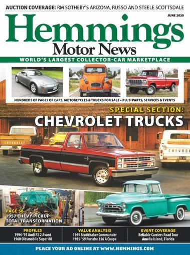 Hemmings Motor News Magazine June 1st, 2020 Issue Cover