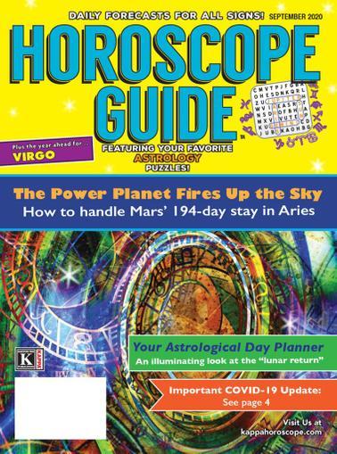 Horoscope Guide Magazine September 1st, 2020 Issue Cover