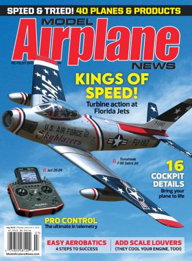 Model Airplane News Magazine July 1st, 2020 Issue Cover