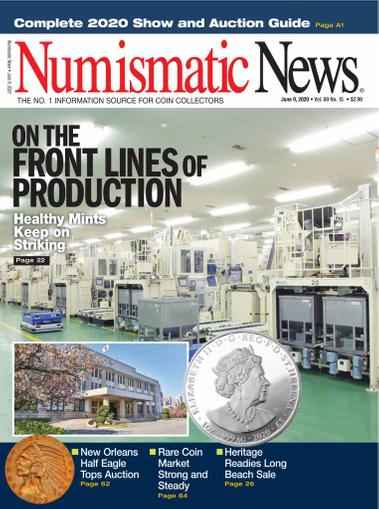 Numismatic News Magazine June 9th, 2020 Issue Cover