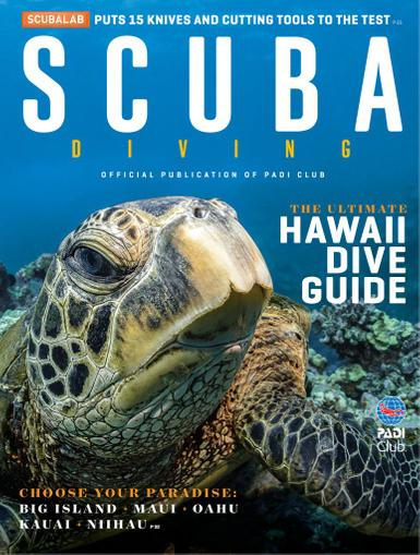 Scuba Diving Magazine April 1st, 2020 Issue Cover