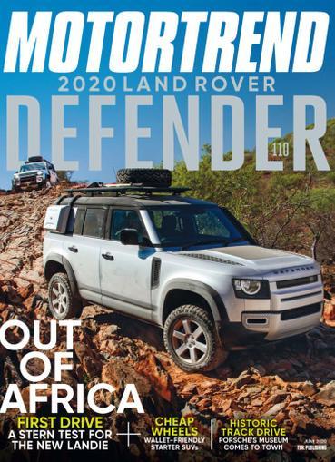Motor Trend Magazine June 1st, 2020 Issue Cover