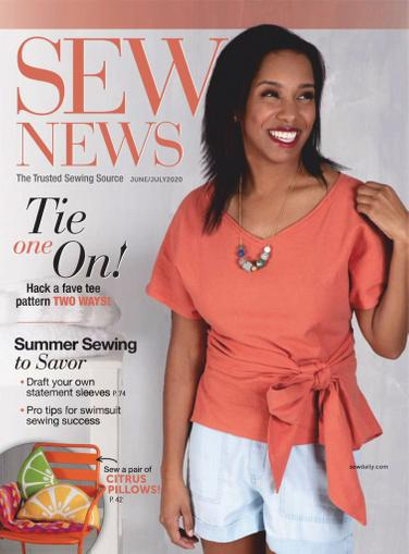 Sew News Magazine June 1st, 2020 Issue Cover